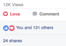 This video has legs. 12,000 vides and 24  shares on Facebook in 14 days.