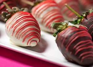 You deserve chocolate covered strawberries.